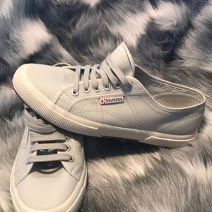 Superga Gray Sneakers Size 10
